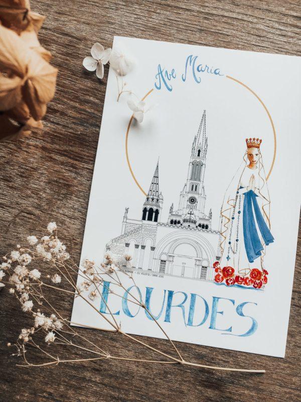 Illustration-de-Patrimoine-x-Atelier-de-lenfant-Jesus-Collaboration-_-Notre-Dame-du-Rosaire-Lourdes