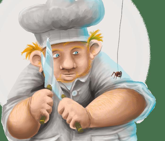 Chef cuisinier étrange