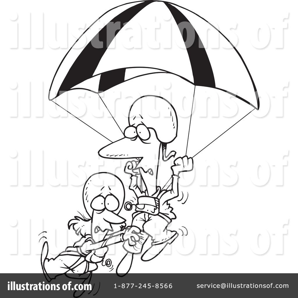 Parachuting Clipart