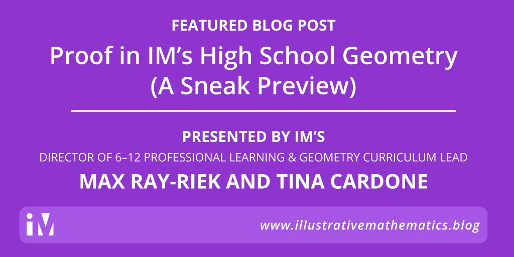 Proof in IM's High School Geometry (A Sneak Preview) – Illustrative