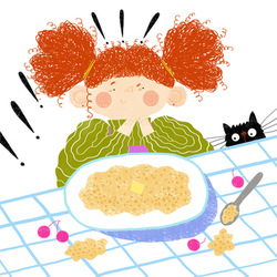 Girl with porridge