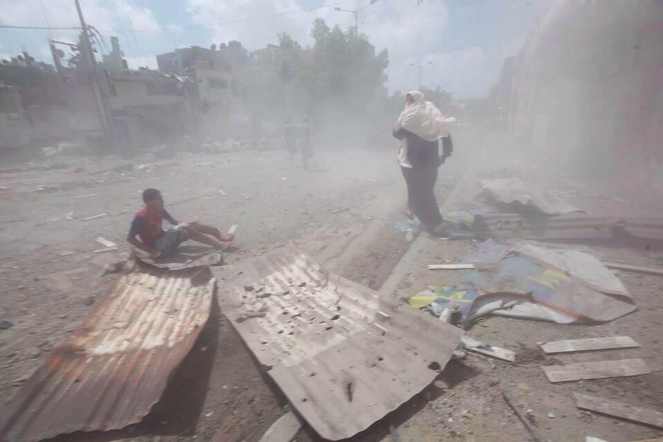Palestinian woman rescues boy