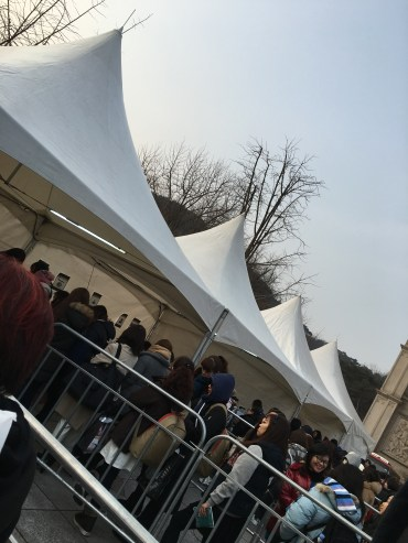 The lines for concert merchandise