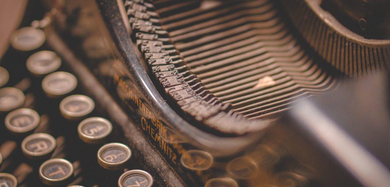 typewriter, writing, text