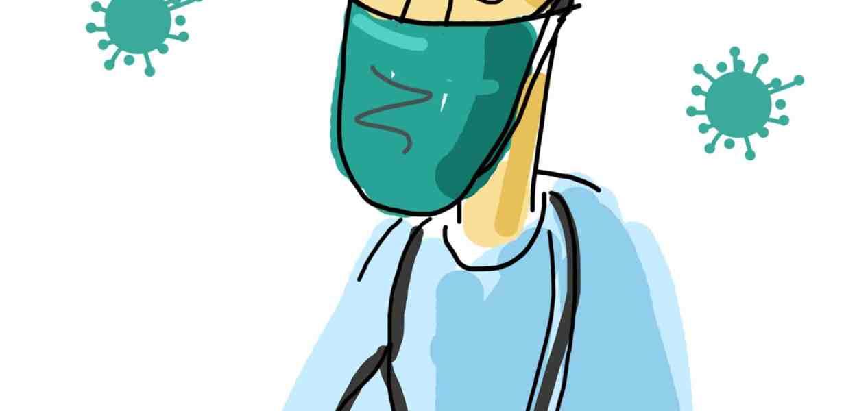 cartoon doctor, covid doctor, hygiene