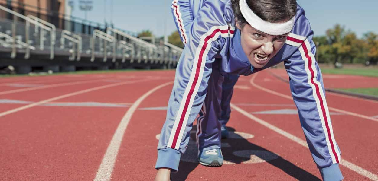 woman, athlete, running
