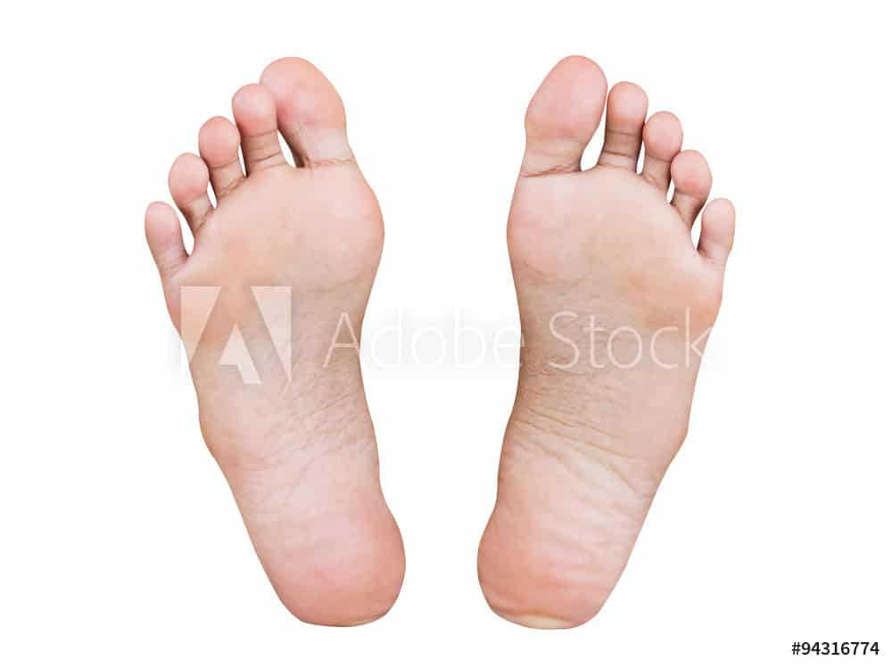 Girl foot isolated