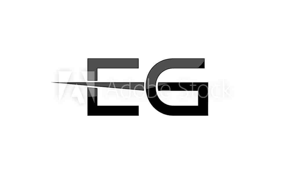 EG initial Letter logo element