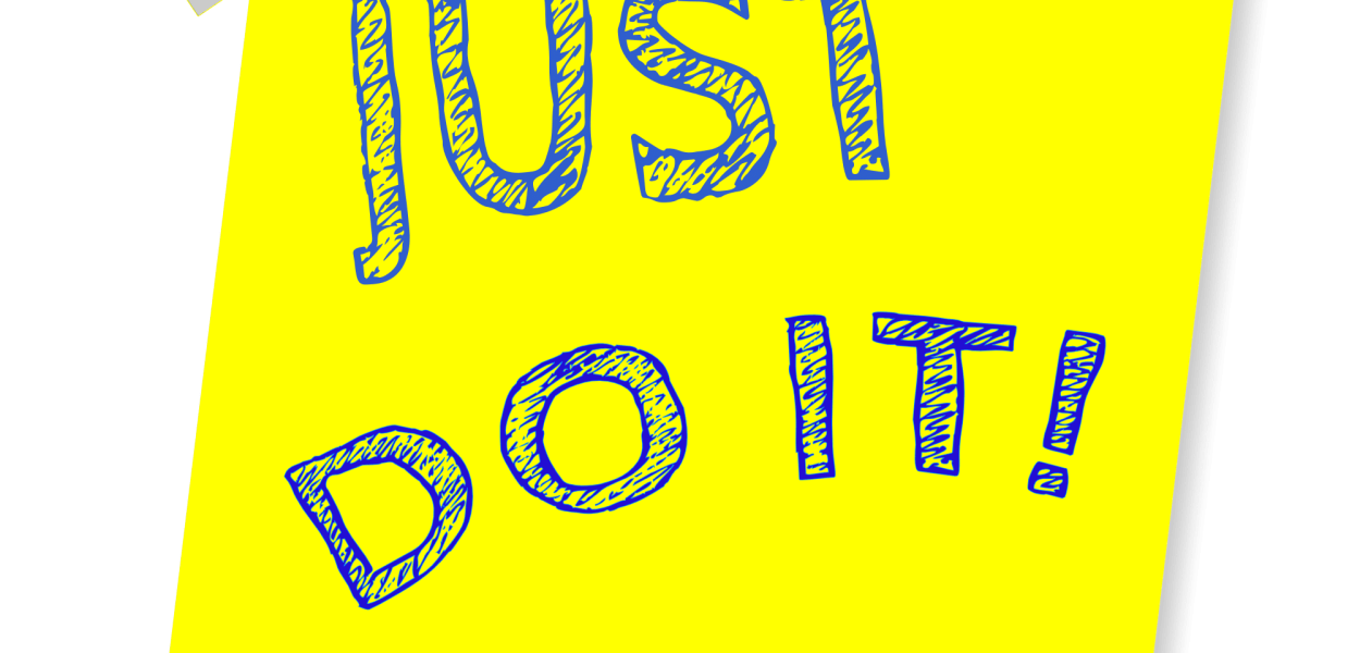 just do it, reminder, post note