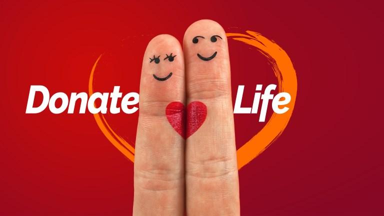 organ donation, heart, finger