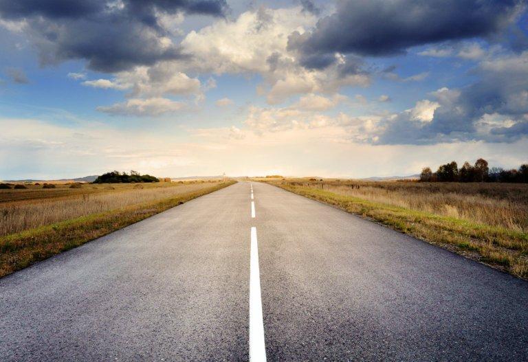 road, pavement, landscape