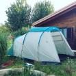 campeggio in giardino