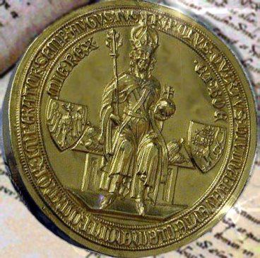 La Bolla d'oro, il sigillo dorato con l'effige dell'imperatore. Foto © Wolpertinger / Wikimedia Commons / CC BY-SA 3.0