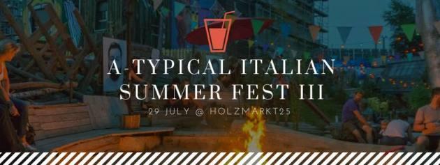 A-Typical Italian Summer Fest