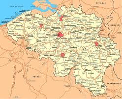 belgio mappa