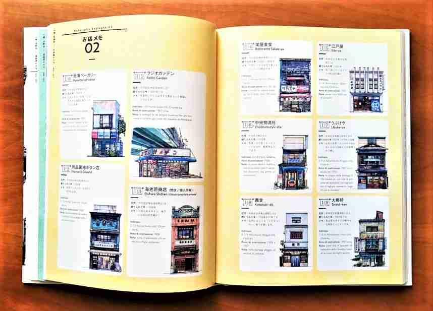 BOTTEGHE DI TOKYO di Mateusz Urbanowicz illustrazioni del libro