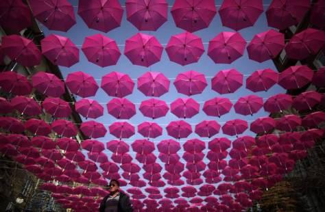 sofia bulgaria ombrelli colorati