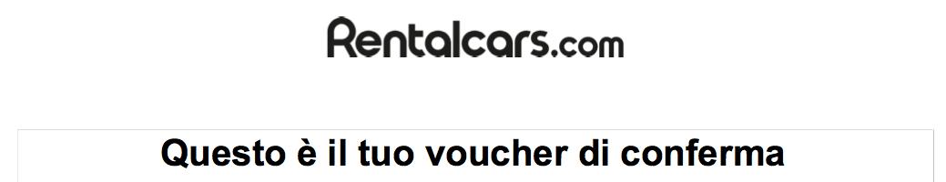 Noleggio auto con RentalCars: la mia esperienza, purtroppo negativa.