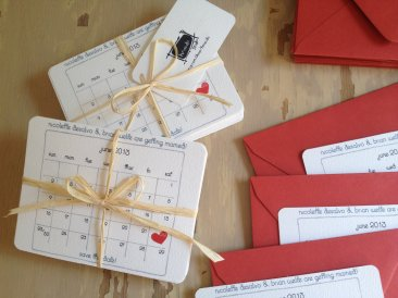 unique-wedding-save-the-dates-calendar-design-invitations-on-etsy-red-white-hearts
