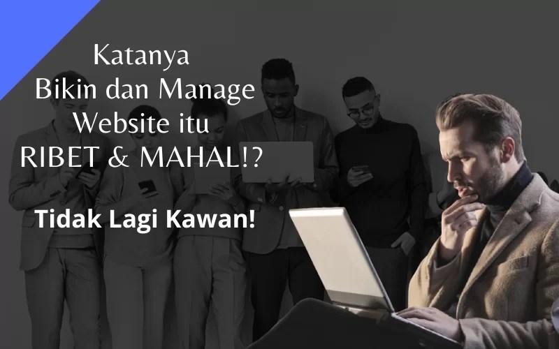 Bikin dan Manage Website RIBET & MAHAL channel youtube jadi website