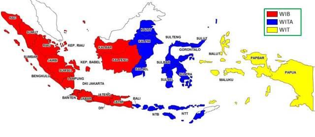 Pembagian Waktu di Indonesia