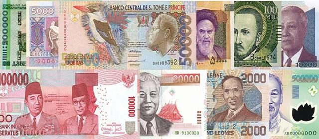 10 Mata Uang Terendah di Dunia