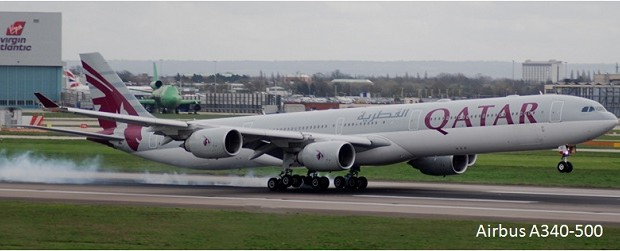 Pesawat Terbang Penumpang sipil Airbus A340-500