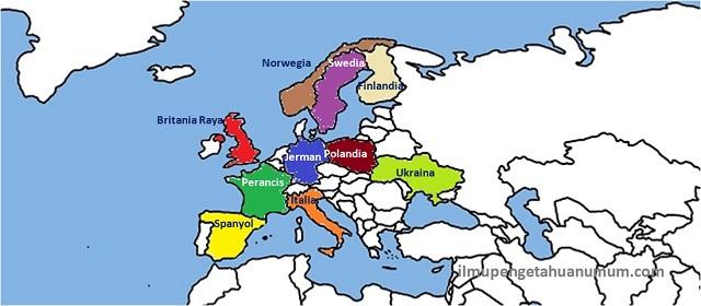 Daftar 10 Negara Terbesar di Benua Eropa