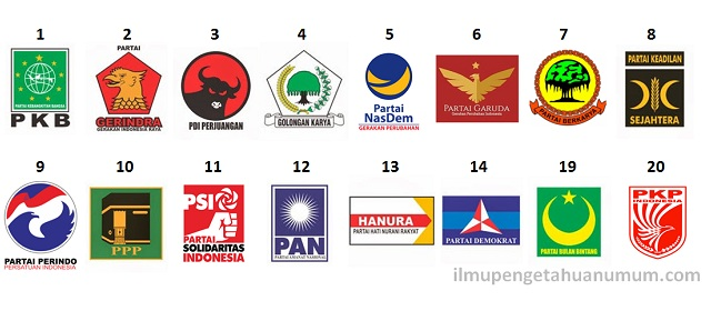 daftar Partai Politik Peserta PEMILU 2019