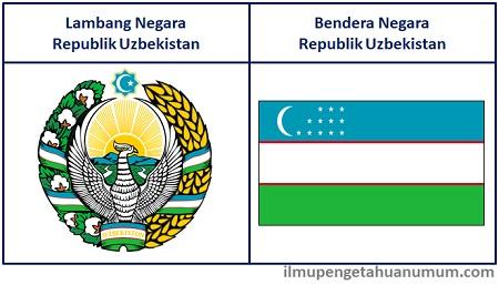 Lambang Uzbekistan dan Bendera Uzbekistan
