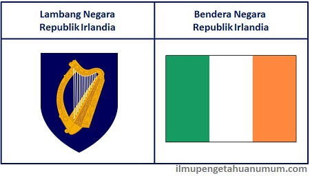lambang dan Bendera Negara Irlandia