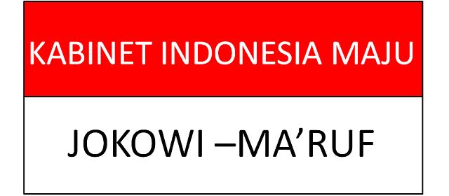 Daftar Susunan Kabinet Jokowi Maruf