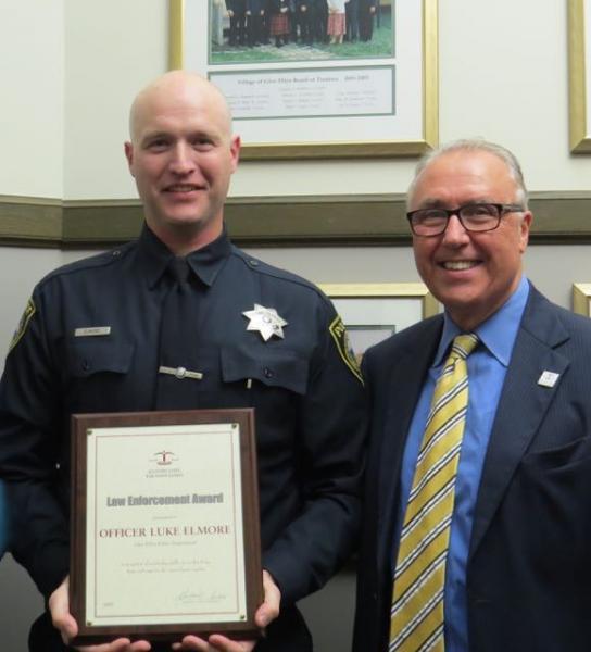 Glen Ellyn Police Officer receives ISBA Law Enforcement ...