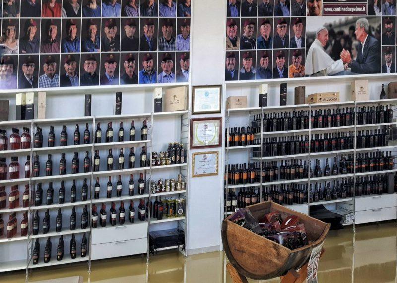 Lo showroom di Cantine Due Palme