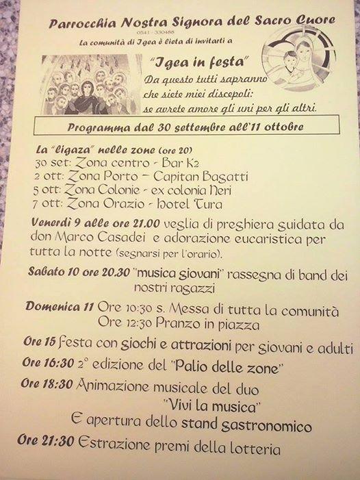 LOCANDINA FESTA IGEA