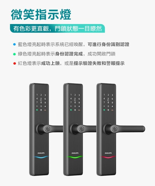 飛利浦電子鎖7300 philips 7300 台中電子鎖安裝推薦5