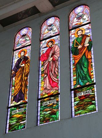 The beautiful stained glass windows of Oton Church