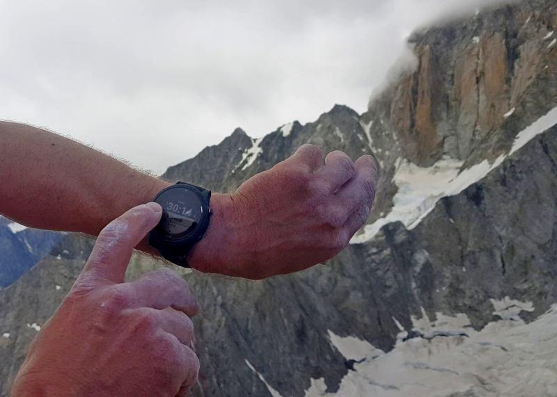 rekord na południowej grani Aiguille