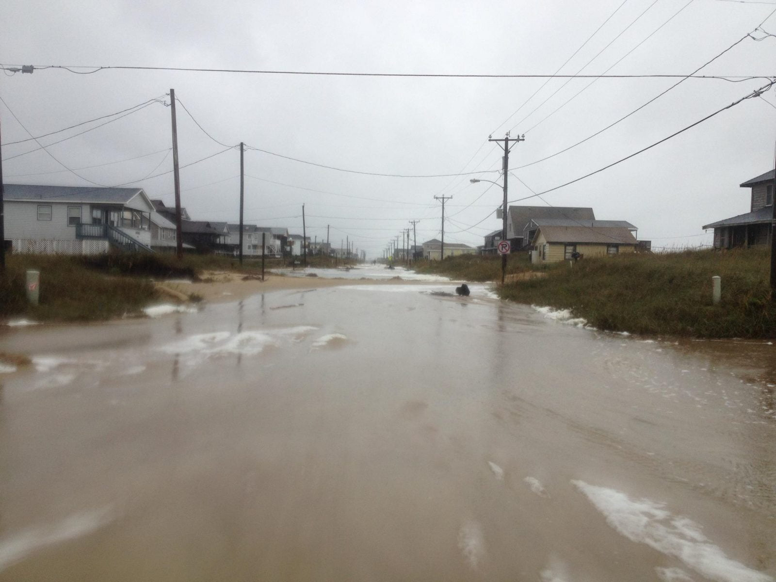 Hurricane Sandy Damage On The Outer Banks