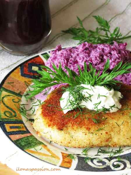 Potato Pancakes with Dill, Parsley and Red Cabbage by ilonaspassion.com