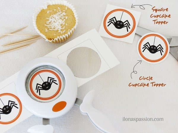 DIY Make Your Own Cupcake Toppers + Free Halloween Printable I ilonaspassion.com