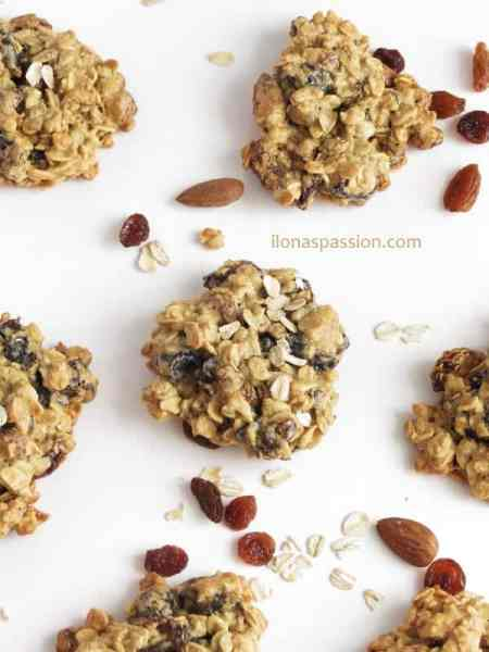 Oat Flour Almond Plum Cookies by ilonaspassion.com