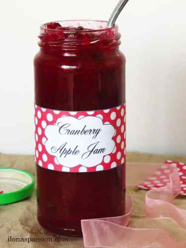 Cranberry Apple Jam by ilonaspassion.com