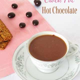 Crock Pot Hot Chocolate {3 Ingredients}