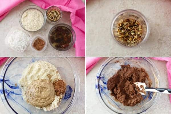Step by step on how to make healthy energy balls with chocolate, dates and almond meal by ilonaspassion.com I @ilonaspassion