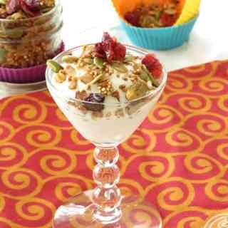 Healthy Pistachio Quinoa and Cranberry Granola by ilonaspassion.com