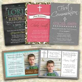 First Communion Invitations Printable