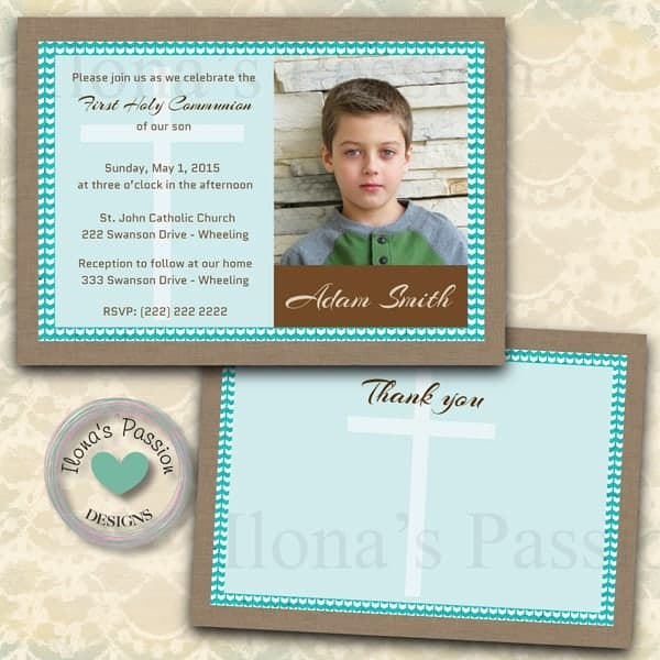 First Holy Communion Printable Invitations by ilonaspassion.com