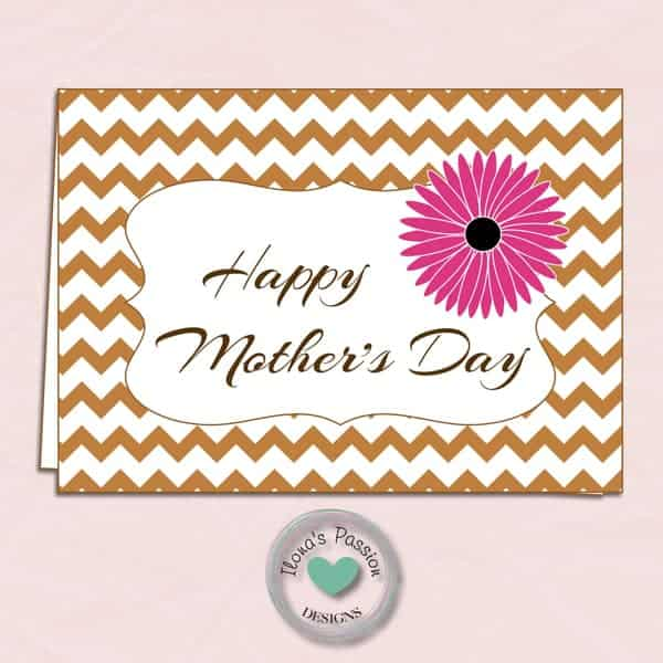 FREE Printable Mother's Day Card + Lots of gift Ideas for Mom by ilonaspassion.com