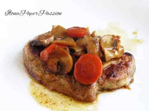Pork with Mushrooms and Carrots by ilonaspassion.com